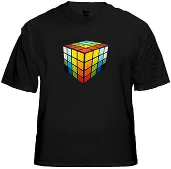 MEGA 3D Rave Cube Sound Reactive Equalizer T-Shirt #12 (Mens Small)