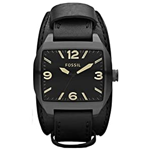 Fossil Roland JR1386 Leather Watch - Black