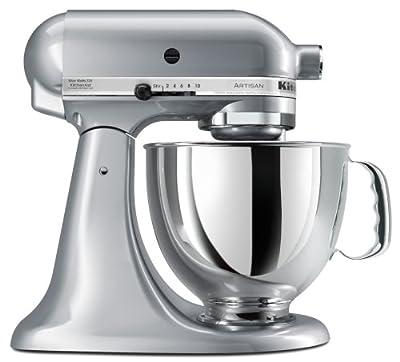 KitchenAid KSM150PSMC Artisan Series 5-Quart Mixer, Metallic Chrome by Kitchenaid