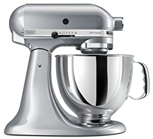 KitchenAid KSM150PSMC Artisan Series 5-Quart Mixer, Metallic Chrome