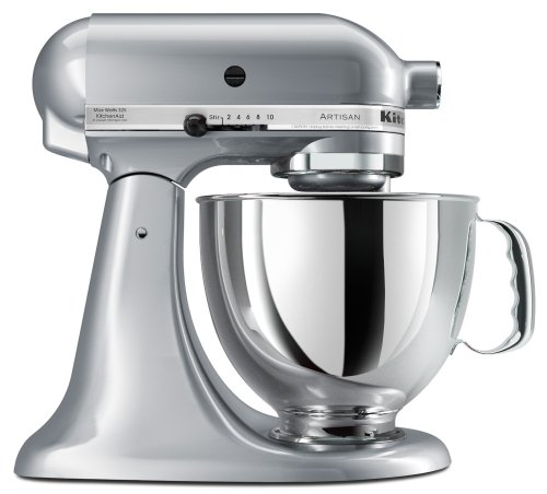 KitchenAid KSM150PSMC Artisan Series 5-Quart Mixer, Metallic Chrome Discount