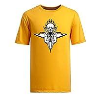Tシャツ オートバイ/スピードレーサー/米国空軍のパターン-メンズ-オレンジ-M