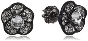 Juicy Couture Jewelry Pave Flower Stud Earrings