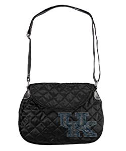 NCAA Sport Noir Quilted Saddlebag Purse by Littlearth