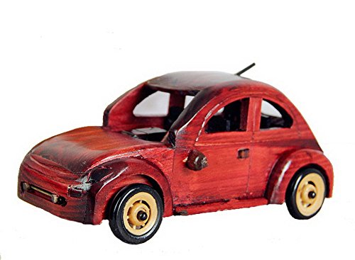 Vintage Handmade Wooden car model Home Furnishing decoration--Red