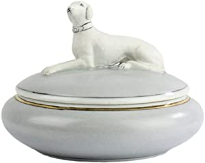Homart Porcelain Greyhound Oval Dog On Box: Home & Kitchen