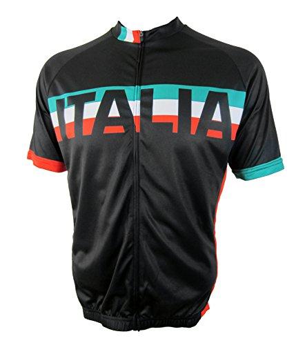 Italia - Men's Short Sleeve Bicycle Jersey (Medium) (Cycling Italia compare prices)