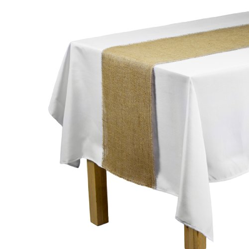 LinenTablecloth Jute Table Runner with Fringe Edge, 12.5 by 120-Inch (Burlap Table Cover compare prices)
