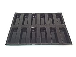 Sasa Demarle FP 02145 Oblong Cake Molds Flexipan, 12 Cavities, 18\