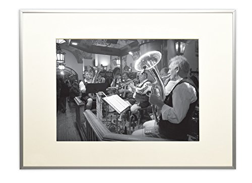 Golden State Art, Metal Wall Photo Frame Collection, Aluminum Silver Photo Frame with Real Glass (16x20) (Aluminum Pictures compare prices)