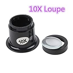 10X Eye Loupe Glass Watch Repair Polycarbonate Loop Magnifier Magnifying Jewelry