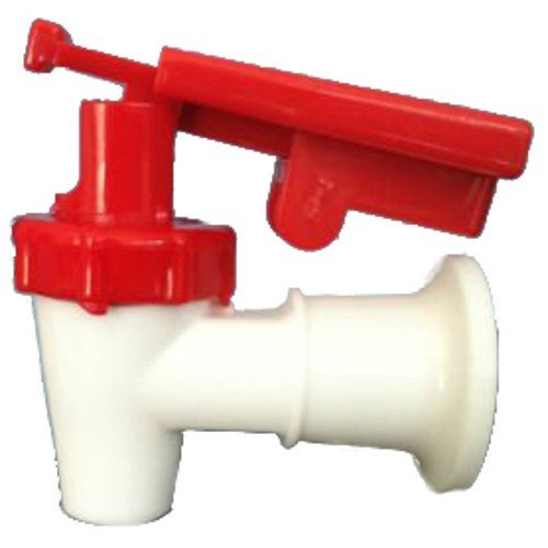 White Cooler Replacement Faucet - Red Touch Guard (Faucet For Cooler compare prices)