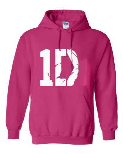 I Love 1D Hoodie In Pink - High Quality By Southern Designs (Large)