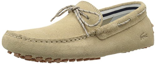 Lacoste Men's Concours Lace 216 1 Slip-On Loafer, Tan, 9 M US