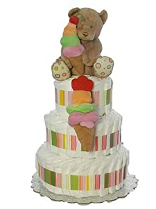 Sweet Baby Ice Cream Parlor Diaper Cake (Triple Layer)
