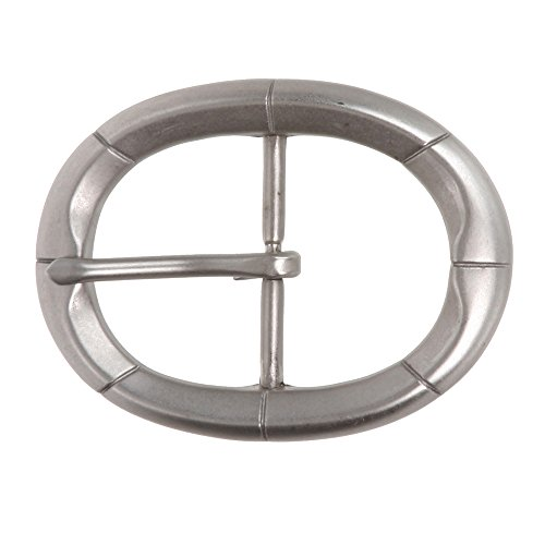 """1 1/2"""" (38 mm) Nickel Free Single Prong Oval Belt Buckle Color: Antique Silver"""