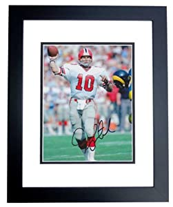 Steve Bartkowski Autographed Hand Signed Atlanta Falcons 8x10 Photo - BLACK CUSTOM... by Real Deal Memorabilia