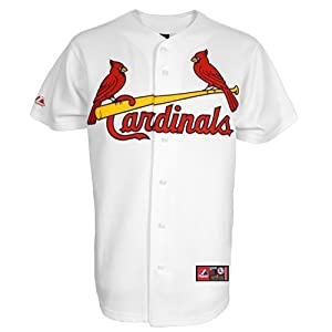 MLB Ozzie Smith St. Louis Cardinals #1 Majestic Cooperstown Collection Throwback... by Majestic