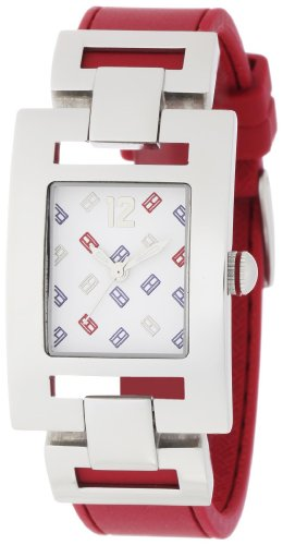 Tommy Hilfiger Women's 1781069 Fashion TH Logo Red Silicon Watch
