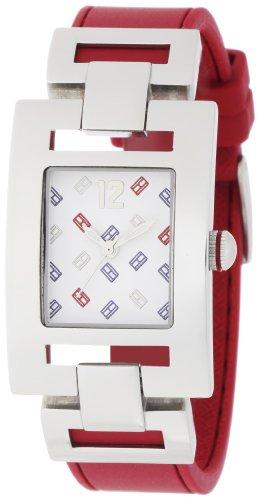 Tommy Hilfiger Women's 1781069 Fashion TH Logo Red Silicon Watch