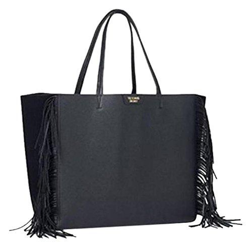 victorias-secret-black-faux-leather-tassle-fringe-tote-weekend-bag