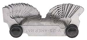 GA-44C 55 degree Whitworth Screw Pitch Gage, 28 Blades, measures 4-62 threads per inch