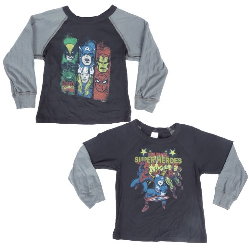 Marvel Superheroes Reversible Layered Long Sleeve Boys T-Shirt