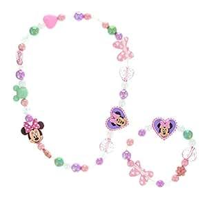 Disney Girls and Womens Kids Minnie Mouse Jewellery Set