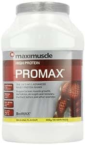 MaxiMuscle Promax 908 g Banana Whey Protein Shake Powder