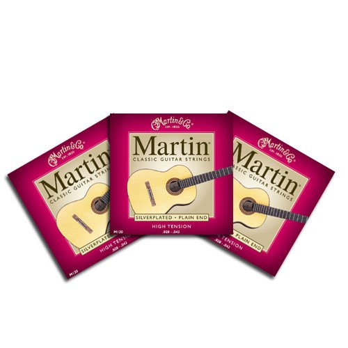 Martin M120 Tie End Classical Guitar Strings - Three Pack