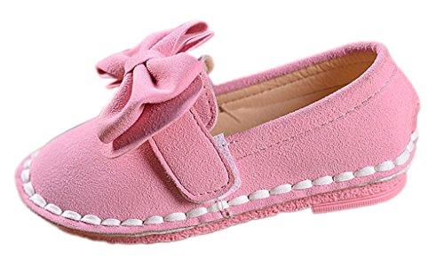 EOZY Chaussure Petite Fille Escarpin Cuir Souple Scratch Noeud