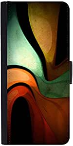 Snoogg Liquid Themedesigner Protective Flip Case Cover For Samsung Galaxy Note 4
