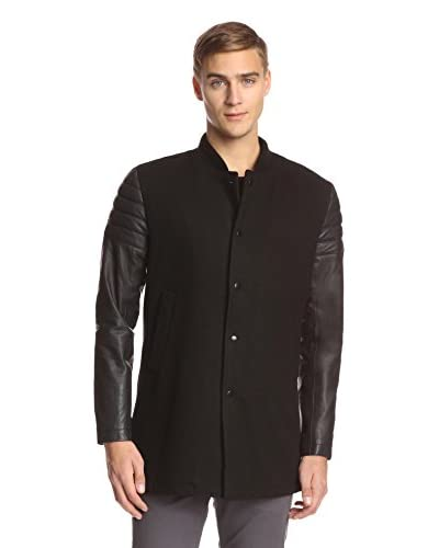 Religion Men's Jaxson Long Sleeve Long Jacket with Leather Sleeves
