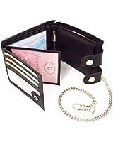 Herrenbrieftasche Kabana/flevado Echt Leder Geldbörse mit Karabiener Hosenkette