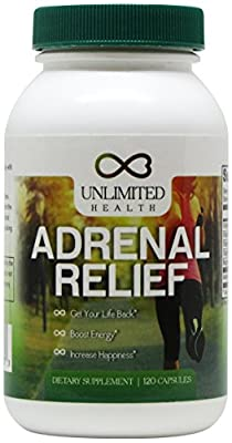 #1 BEST Adrenal Fatigue Herbal Supplement / Support - Get Your Life Back - Boost Energy - Increase Happiness - (1 Bottle - 30 Day Supply)