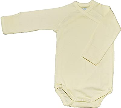 Under the Nile Organic Cotton Onesie - Long Sleeved, Yellow 3-6m by Under The Nile