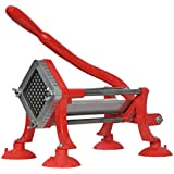 """VIVO Commercial Grade Red 3/8"""" French Fry Cutter with Suction Feet / Potato Slicer / 3/8 inch Blade (CUTR-F38)"""