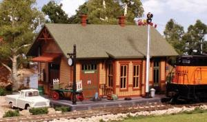 N KIT Woodland Station (Ho Model Train Building Kits compare prices)