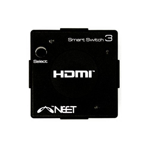 Neet® – 3 Port HDMI AUTO SWITCH 3×1 Mini Hub Box (3 way input 1 output) 1080p Full HD v1.3b HDMI Switcher