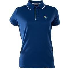 Antigua Ladies Kansas Jayhawks Elite Desert Dry Xtra-Lite Moisture Management P by Antigua
