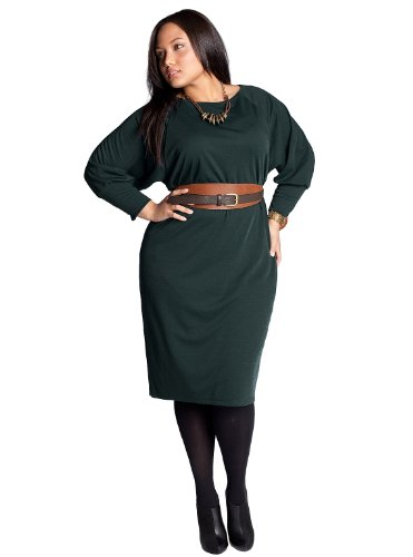 Sales IGIGI by Yuliya Raquel Plus Size Isolde Belted Dress in Parisian Green
