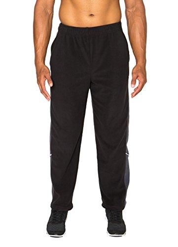 RBX Active Men's Fleece Elastic Waist Jogging Pant Black XL