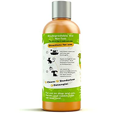 Hypoallergenic Natural Certified Organic Oatmeal Pet Wash Dog Shampoo & Conditioner with Aloe Vera-Medicated & Vet Recommended Anti-Itch Formula for Allergies & Sensitive Itchy Skin 17oz
