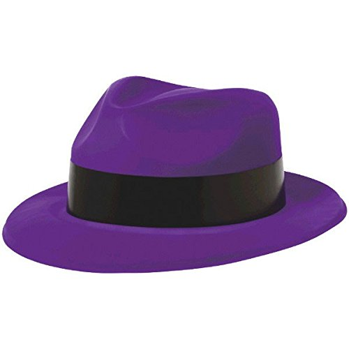 Totally 80s Plastic Purple Fedora Hats