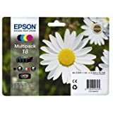 Epson 18 Multipack - Print cartridge - 1 x black, yellow, cyan, magenta - blister - for Epson MUFC Printer; Expression Home XP-102, 212, 215, 30, 305, 312, 315, 405, 412, 415