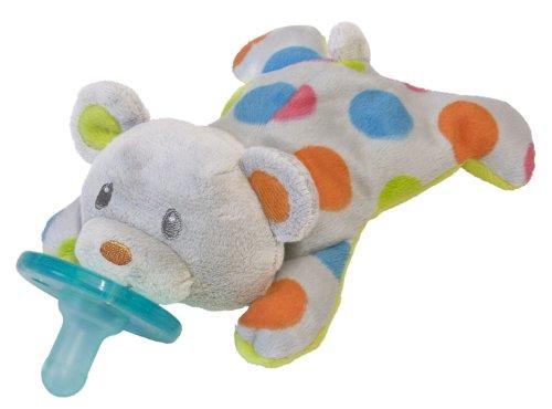 Wubbanub Confetti Wubbanub Plush Pacifier, Teddy front-855540