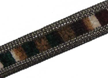 3 Y Brown Velvet Border Sequin Ribbon Trim Sewing Lace