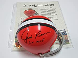 Jim Brown Cleveland Browns Signed Autographed Mini Helmet Authentic Certified Coa