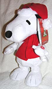 "Peanuts Animated Musical 12"" Dancing Snoopy Christmas Doll - Plays ""Lucy and Linus"" Song"