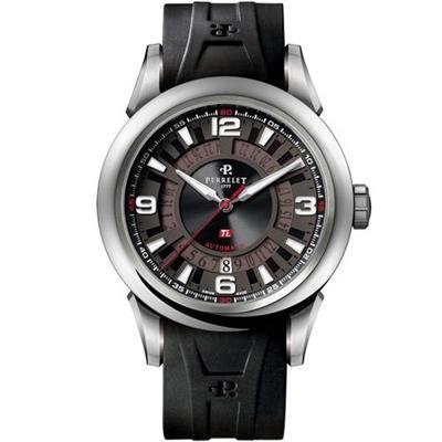 Perrelet Men's Ti Automatic Date Titanium Watch A5007/1